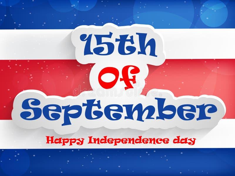 Illustration av Costa Rica Independence Day Background stock illustrationer