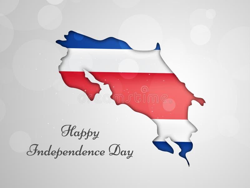 Illustration av Costa Rica Independence Day Background royaltyfri illustrationer