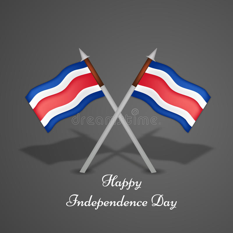 Illustration av Costa Rica Independence Day Background vektor illustrationer