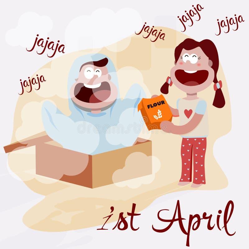 Illustration av dagen för ` s för April dumbom, första April royaltyfri illustrationer