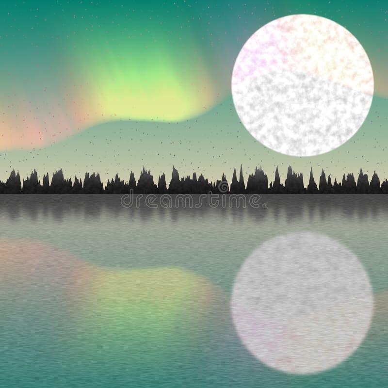 Illustration av den arktiska polen stock illustrationer