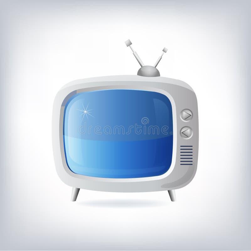 Illustration av den bra gamla retro TV:N stock illustrationer
