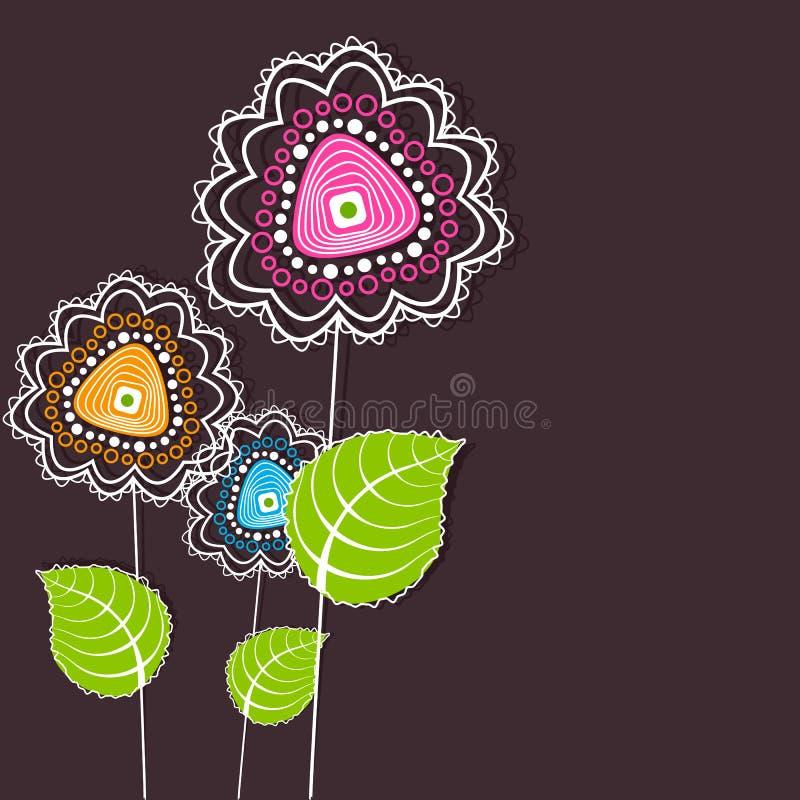 Färgrik blomma vektor illustrationer