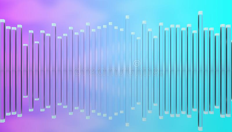 Illustration av den glass polutjämnaren vektor illustrationer