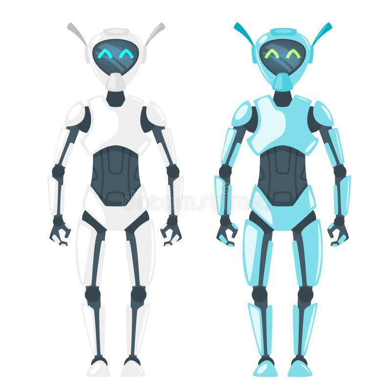 illustration av den gulliga roboten royaltyfri illustrationer