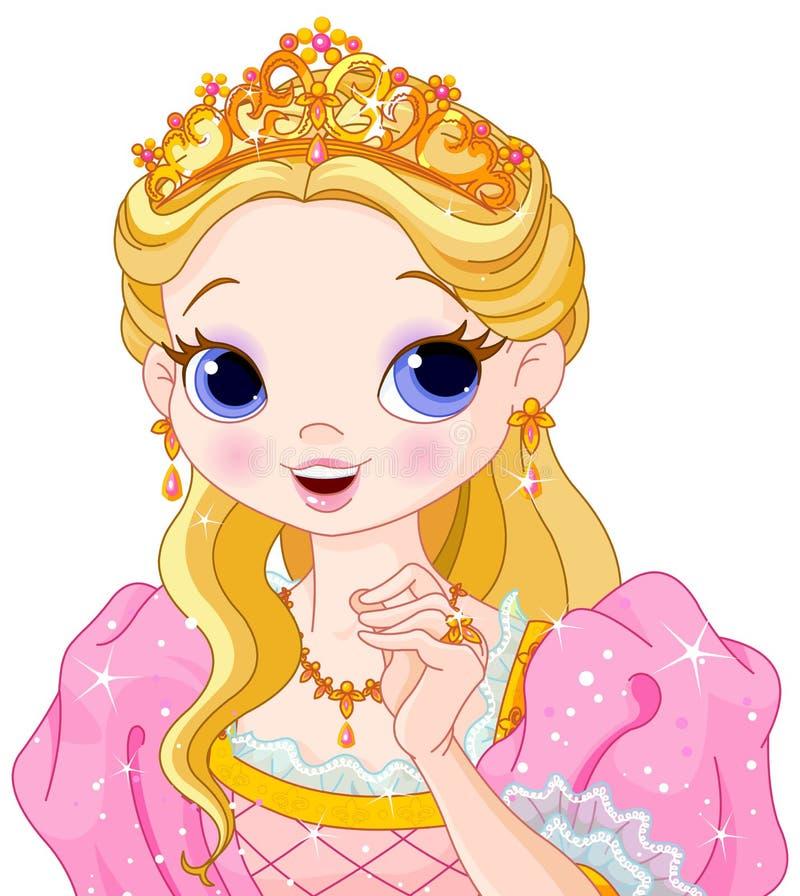 Härlig princess royaltyfri illustrationer