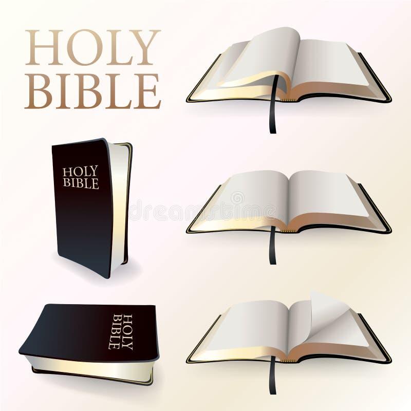 Illustration av den heliga bibeln vektor illustrationer