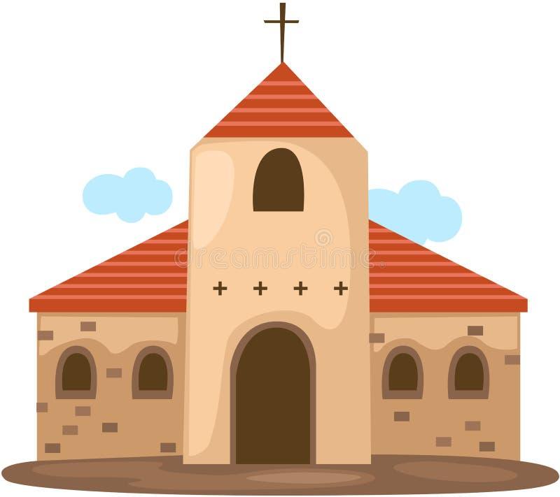 Kristenkyrka royaltyfri illustrationer