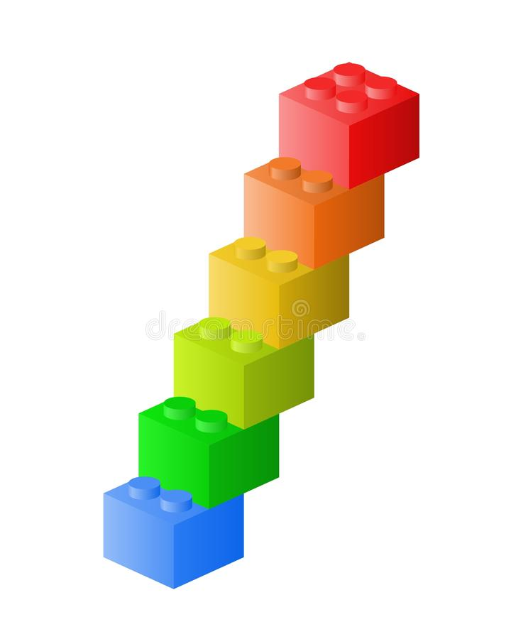 Lego trappa vektor illustrationer