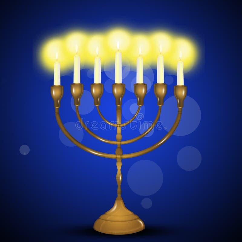 Illustration av den lyckliga Chanukkah royaltyfri illustrationer