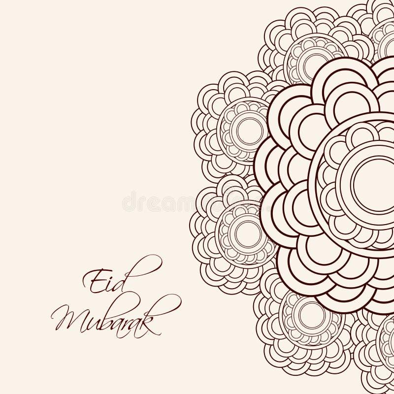 Illustration av den muslimska festivalen Eid Background vektor illustrationer