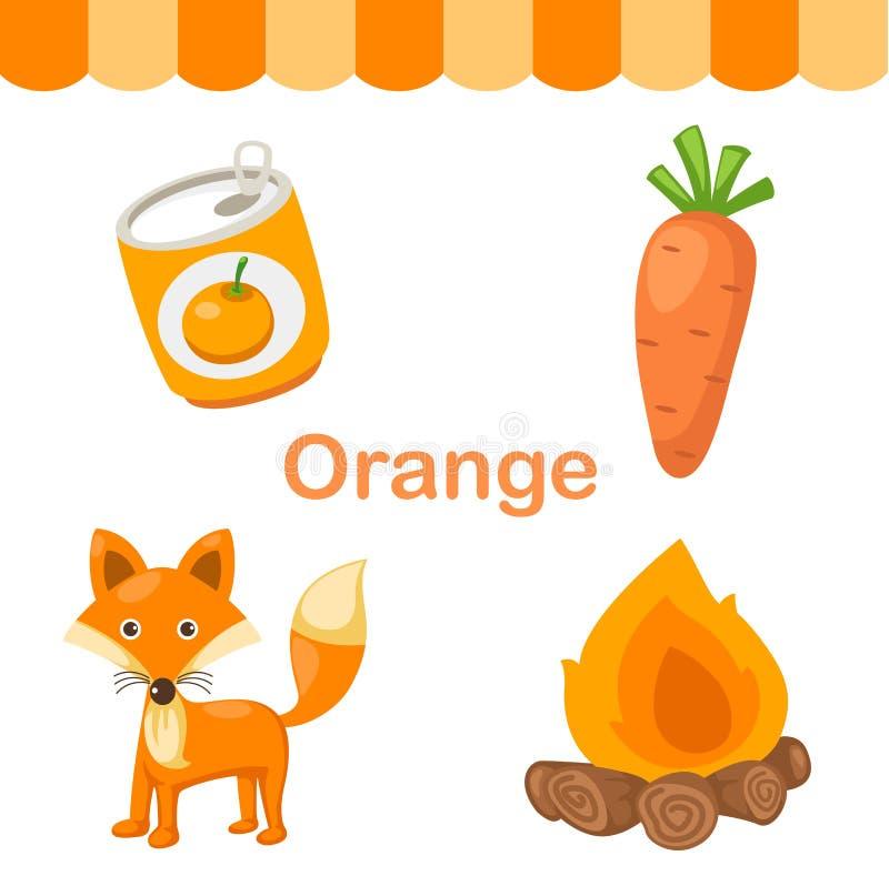 Illustration av den orange gruppen för färg stock illustrationer