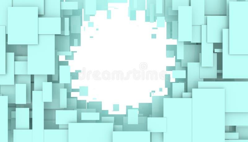 Illustration av den rörande illustrationen för rektanglar 3D vektor illustrationer