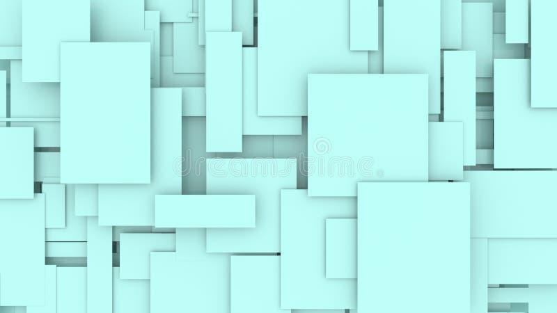 Illustration av den rörande illustrationen för rektanglar 3D stock illustrationer