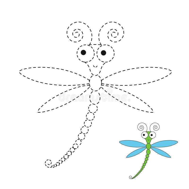 Illustration av den roliga sländan för små barn royaltyfri illustrationer