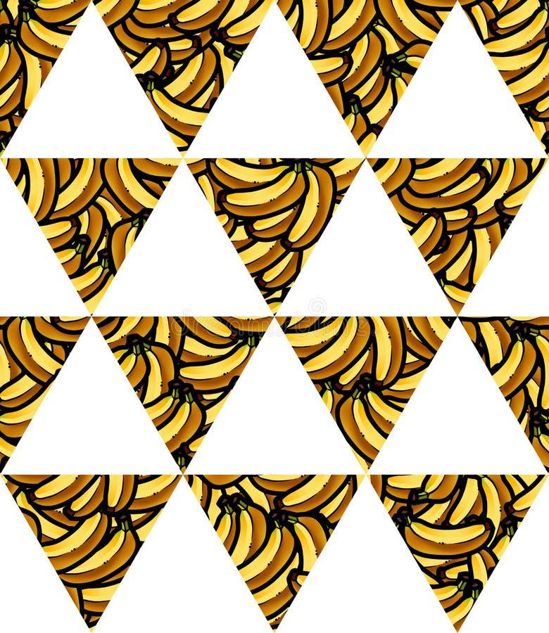 Illustration av den sömlösa modellen för ny geometrisk triangelflagga för banan för din design royaltyfri fotografi