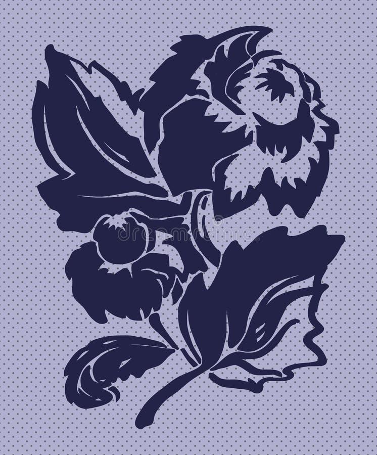 Illustration av den stiliserade floverdahlian arkivbilder