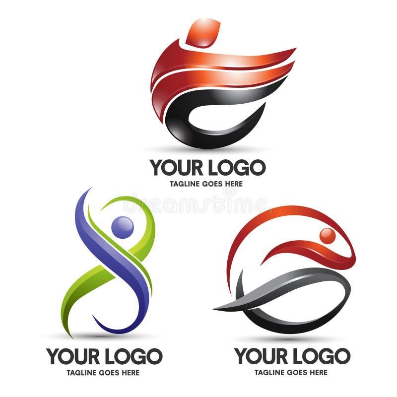 Illustration av den utomhus- symbolen för affärsföretagsportdesign