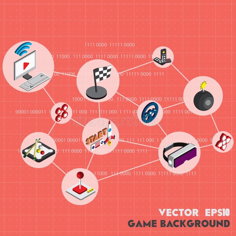 Illustration av det grafiska teknologibegreppet för information stock illustrationer