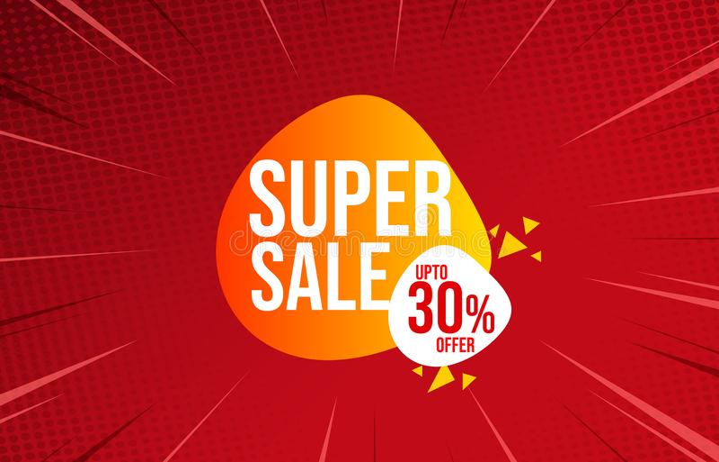 Illustration av det toppna försäljningspriset på färgbakgrund vektor illustrationer