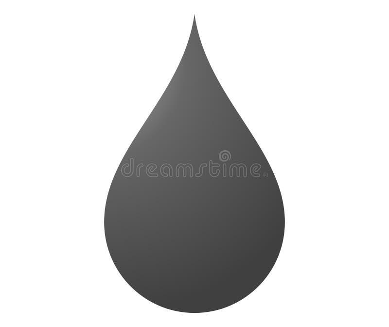 illustration av droppsymbolen på vit royaltyfri illustrationer
