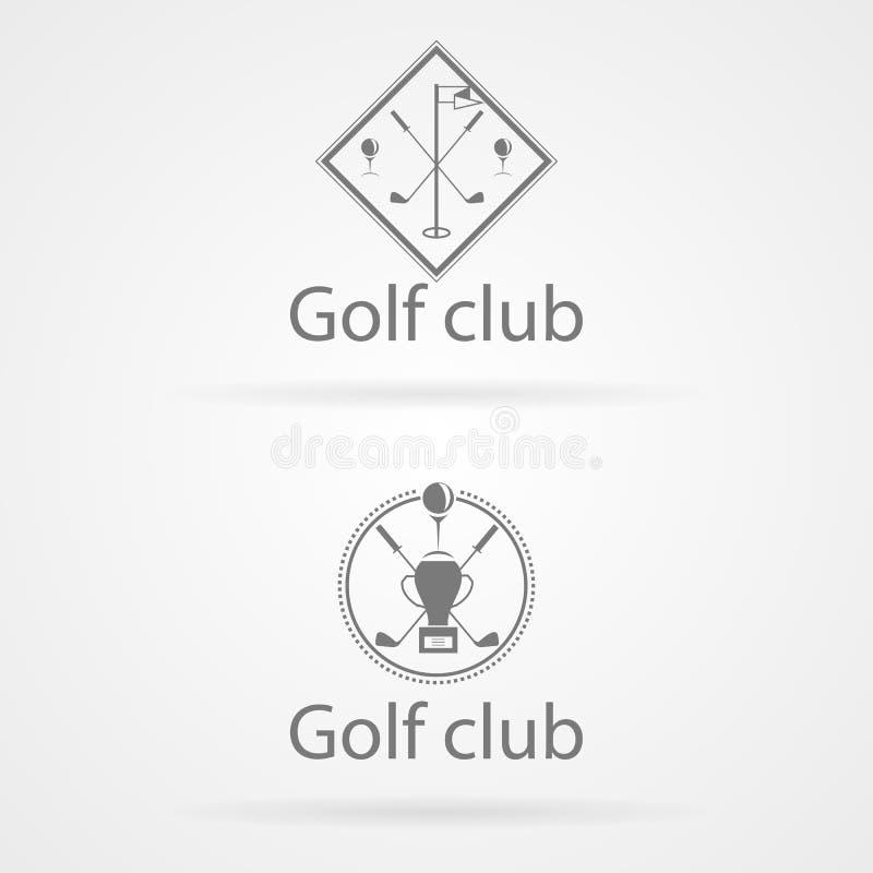 Illustration av emblem två för golfklubb royaltyfri illustrationer