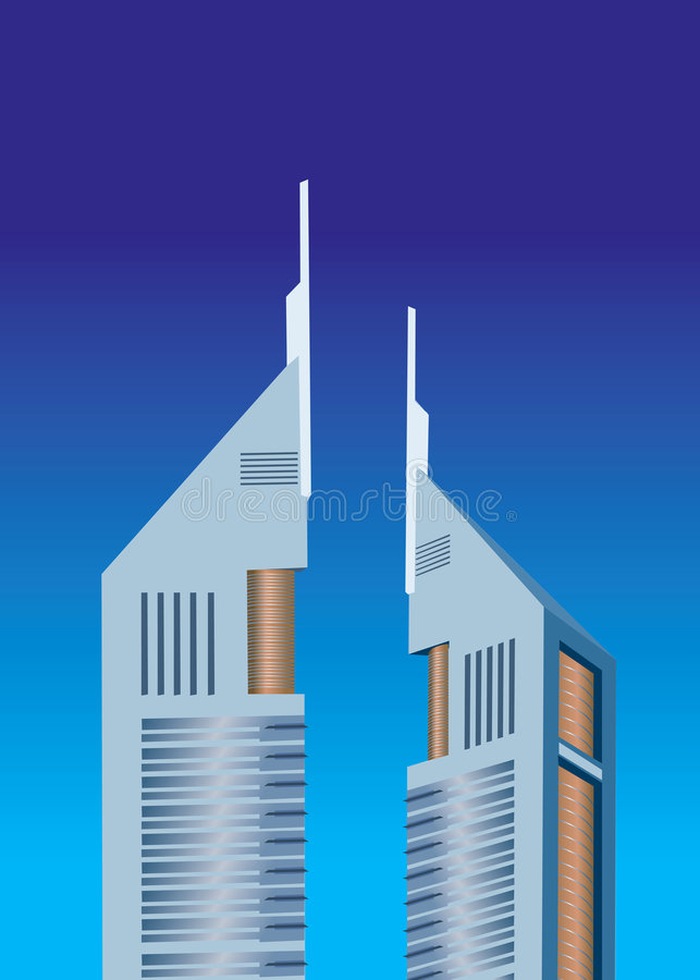 Illustration Av Emiratestornet Royaltyfria Bilder