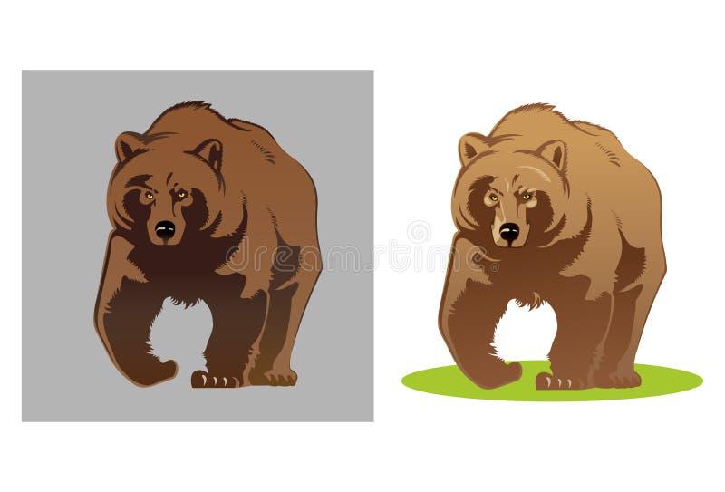 Illustration av en björn vektor illustrationer