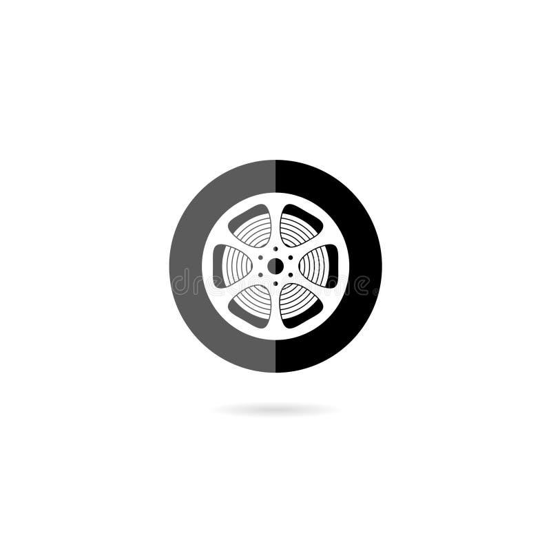 Illustration av en filmlinjeikon isolerad på vit bakgrund stock illustrationer
