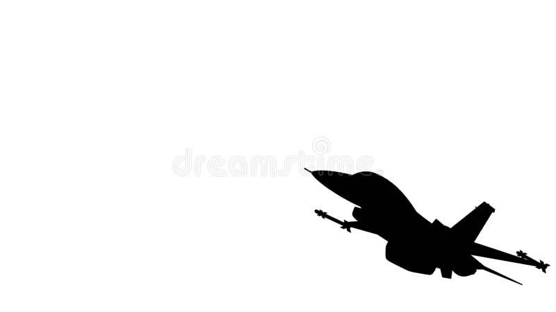 Illustration av en flygnivå royaltyfri illustrationer