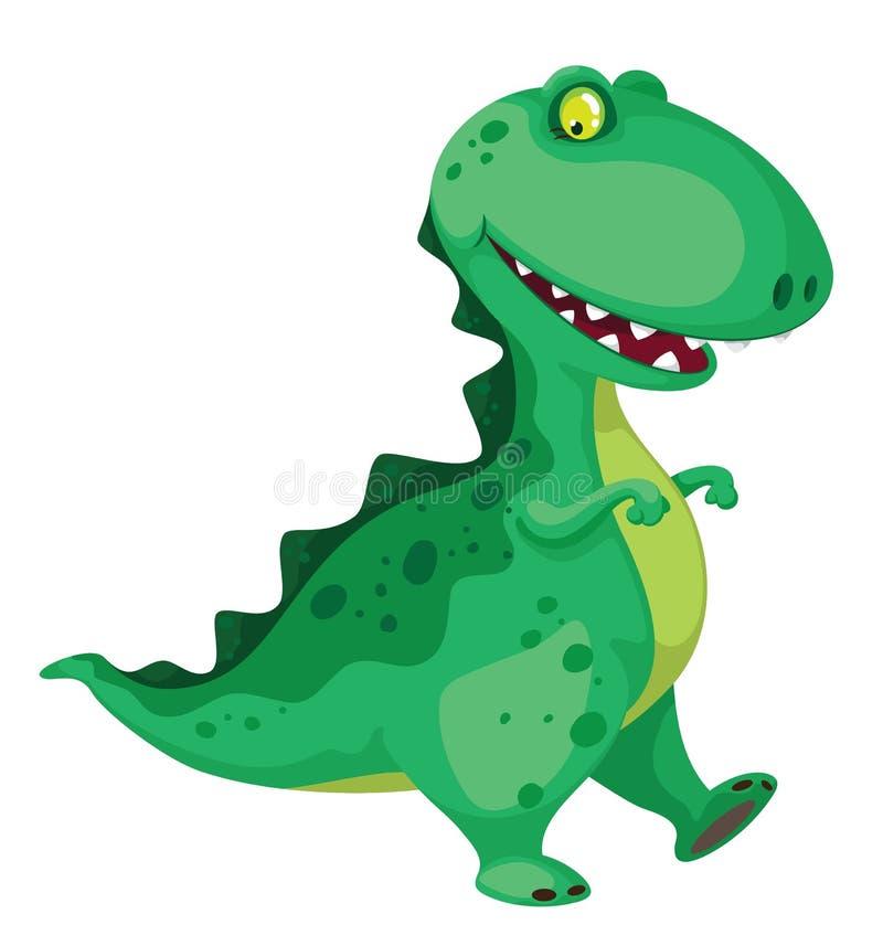 Gående dinosaur royaltyfri illustrationer