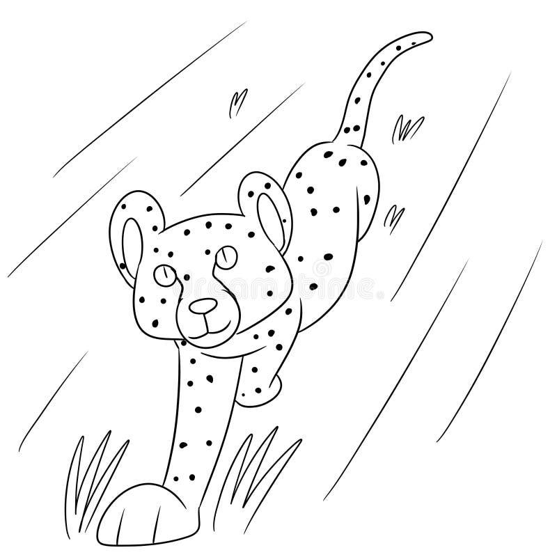 Illustration av en gullig stor katt royaltyfri illustrationer