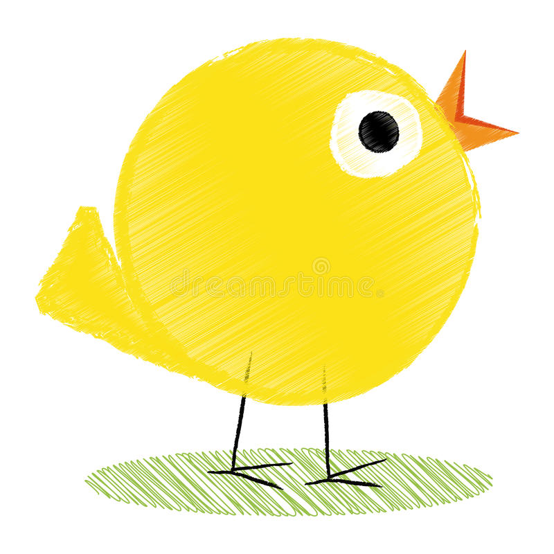 Fågelunge royaltyfri illustrationer