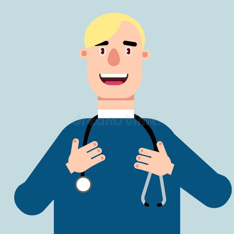Illustration av en manlig doktor ocks? vektor f?r coreldrawillustration vektor illustrationer