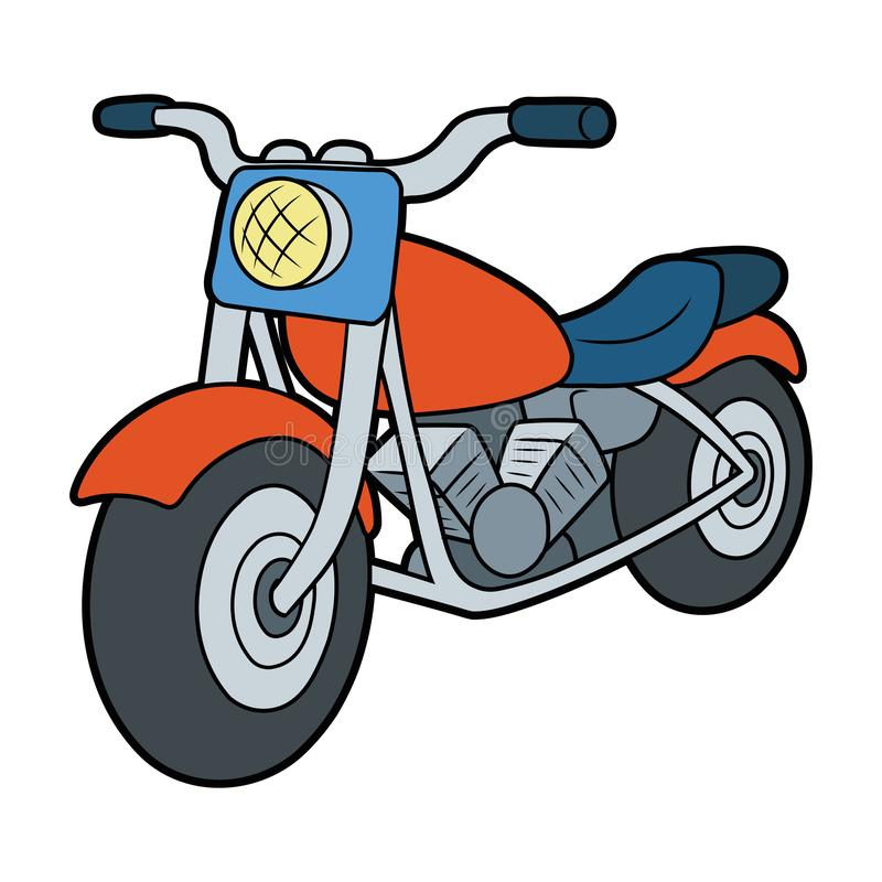 Illustration av en motorcykel stock illustrationer