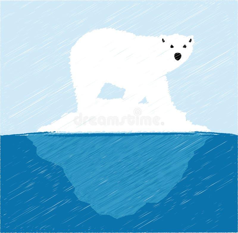 Polar björn på isberg vektor illustrationer