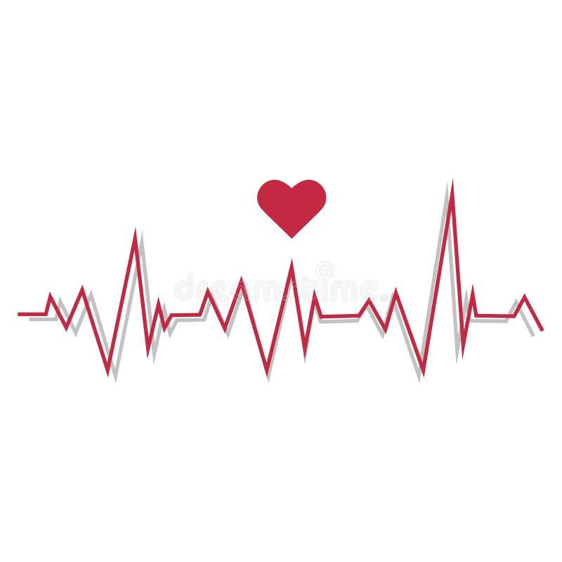 Illustration av en pulslinje cardiogram vektor illustrationer