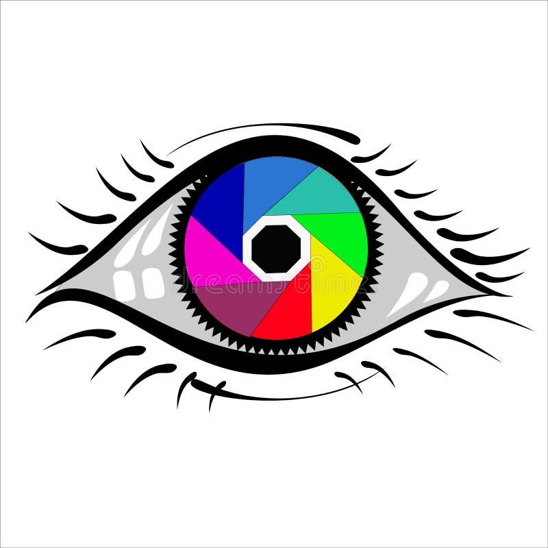 Illustration av en stiliserad kamera royaltyfri foto
