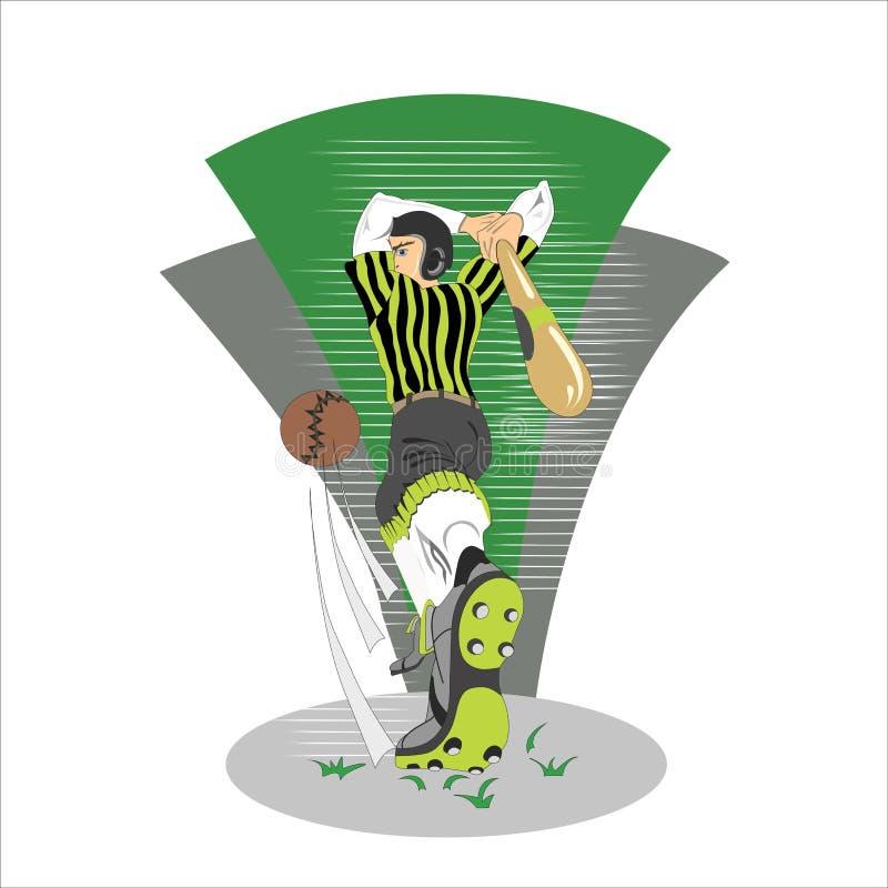 illustration av en tecknad filmbaseball arkivfoton