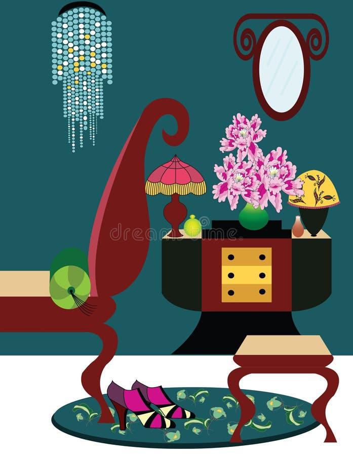 Illustration av ett art décorum royaltyfri illustrationer