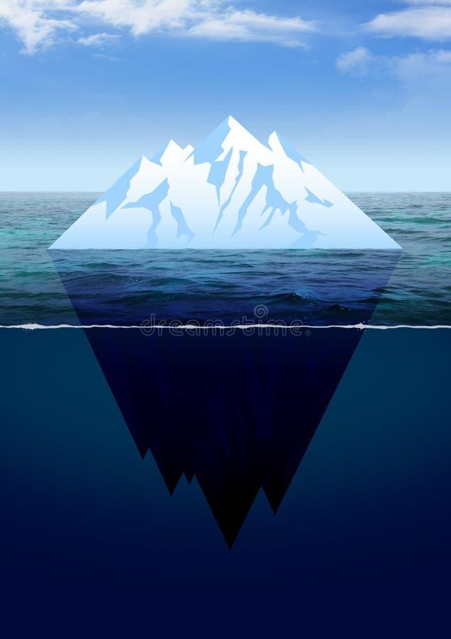 Illustration av ett isberg vektor illustrationer