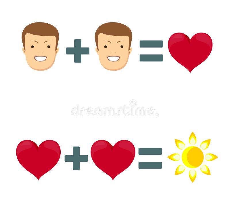 Illustration av förälskelse- och valentindagen vektor illustrationer