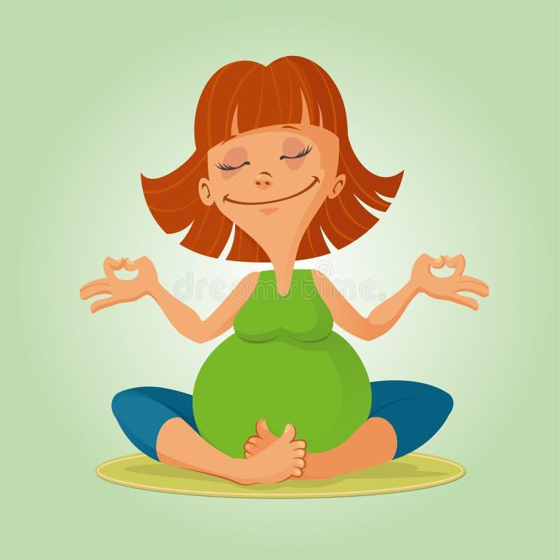Illustration av före födseln yoga stock illustrationer