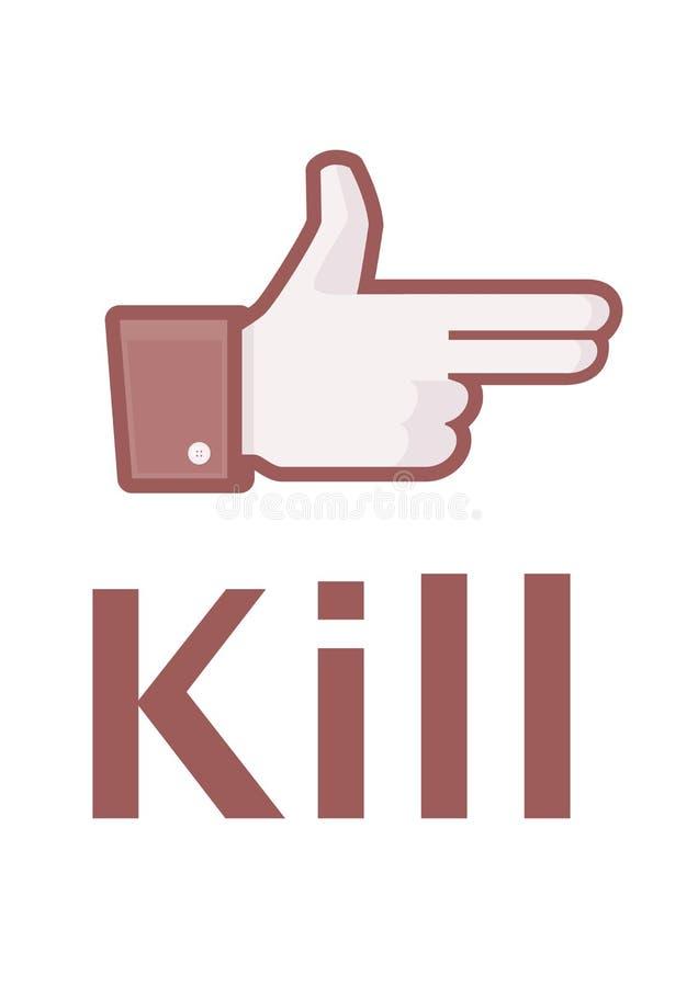 Döda dig facebook royaltyfri illustrationer