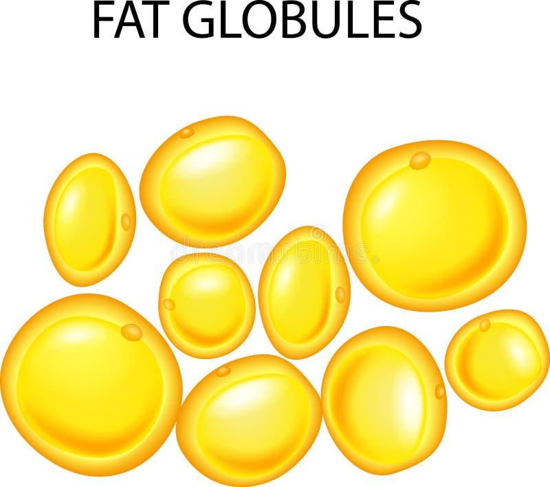 Illustration av feta små kulor vektor illustrationer