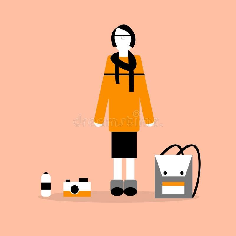 Illustration av flickan vektor illustrationer