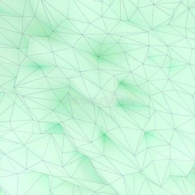 Illustration av geometrisk yttersida för polygonal triangel 3D framför backround av låg poly bakgrund vektor illustrationer
