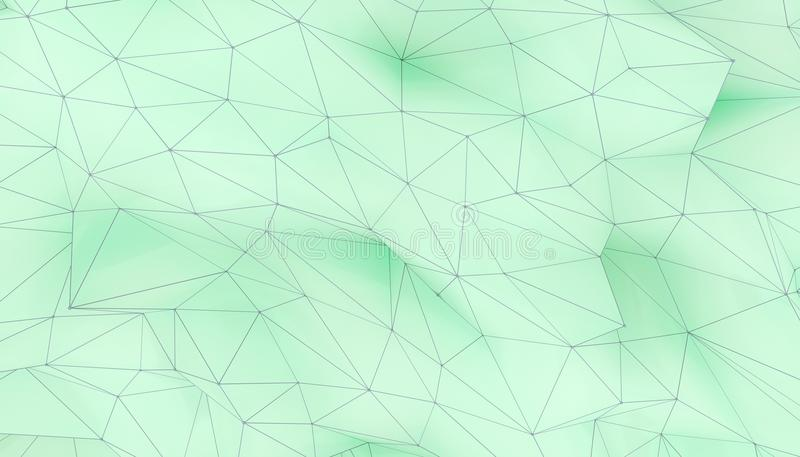 Illustration av geometrisk yttersida för polygonal triangel 3D framför backround av låg poly bakgrund stock illustrationer