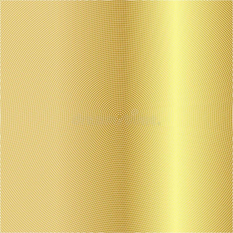 Illustration av guld Guld- bakgrund med en lutning cirkel royaltyfri illustrationer