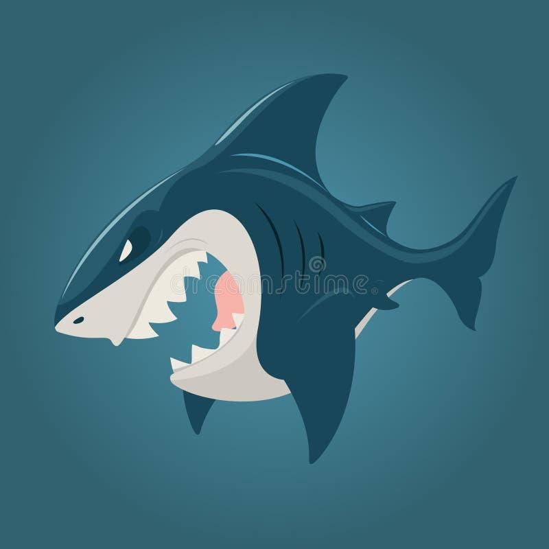 Illustration av hajen vektor illustrationer